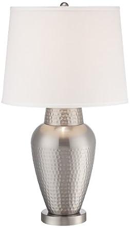 Rupert Brushed Steel Hammered Metal Table Lamp - - Amazon.com