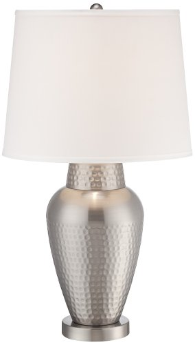 Hammered Metal Table Lamp - 3