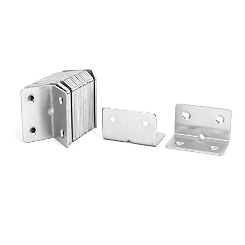 uxcell 31mmx31mmx50mm Stainless Steel Right Angle Bracket Corner Brace Fastener 20pcs by uxcell