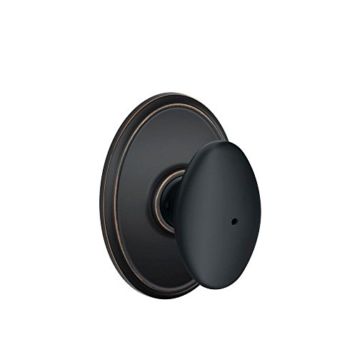 - Schlage F40SIE716WKF Wakefield Collection Siena Privacy Knob, Aged Bronze