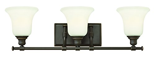 Fixtures Lighting Hinkley Bathroom (Hinkley 58783OZ Traditional Three Light Bath from Colette collection in Bronze/Darkfinish,)