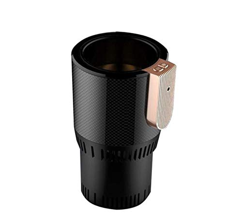 LANBING Portable Fast Cooling Warmer Cup,Mini Refrigeration Cup   2-in-1 Desktop Cooler Warmer Cup Coffee Mug for Home & Office Use,Black -