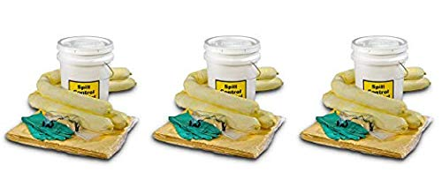 ESP SK-H5 16 Piece 5 Gallons Hazmat Absorbent Spill Kit, 5 Gallons Oil Absorbency (Pack of 3) by ESP (Image #2)
