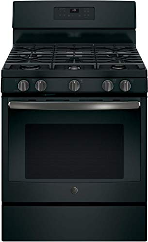 - GE JGB660FEJDS 5.0 Cu. Ft. Self-Cleaning Freestanding Gas Range - Black Slate