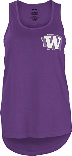NCAA Washington Huskies Junior's Comfort Colors Tank Top, Large, Purple