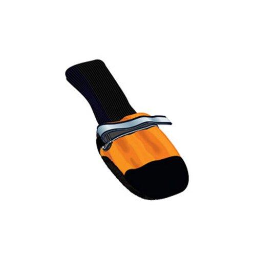 Muttluks Fleece Lined Dog Boots - Set of 4, Medium (3.25 to 3.75 inch), Orange