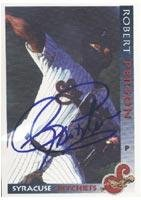 Robert Person Syracuse Skychiefs - Blue Jays Affiliate 1998 Grandstand Autographed Card - Minor League Card. This item comes with a certificate of authenticity from Autograph-Sports. Autographed