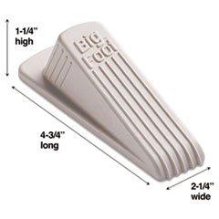 Foot No Slip Door Stops - Big Foot Doorstop, No-Slip Rubber Wedge, 2-1/4w x 4-3/4d x 1-1/4h, Beige