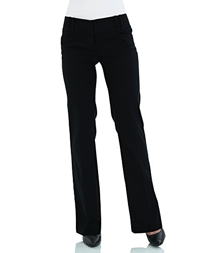 SATINATO Ladies Stretch Trousers Women Classic Flare Pants 0/R-Black