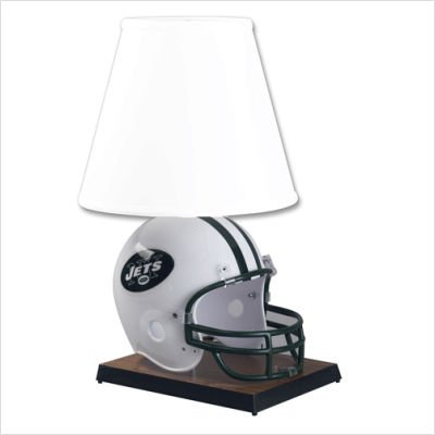 """NFL Deluxe Helmet 24"""" H Table Lamp with Empire Shade NFL Team: New York Jets"""