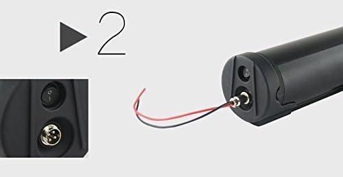 TZIPower 36V 18,2AH Schwarz Trinkflaschenakku E-Bike Akku E Bike Elektrofahrrad Lithium Ionen Rahmenakku Umbausatz Batterie