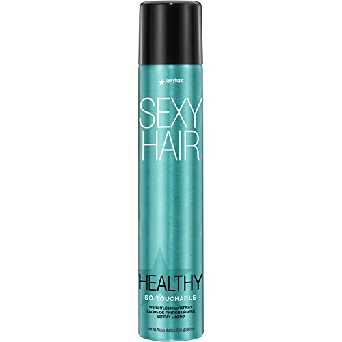 SexyHair Healthy So Touchable Weightless Hairspray, 9 Oz | Light Hold and Shine | All Hair Types