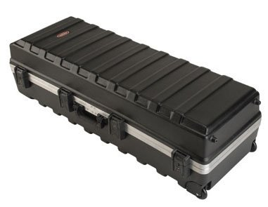 SKB ATA Large Stand Case (48 x 16-1/4 x 13) with Wheels & Straps, TSA Latches, Over-molded Handle by SKB