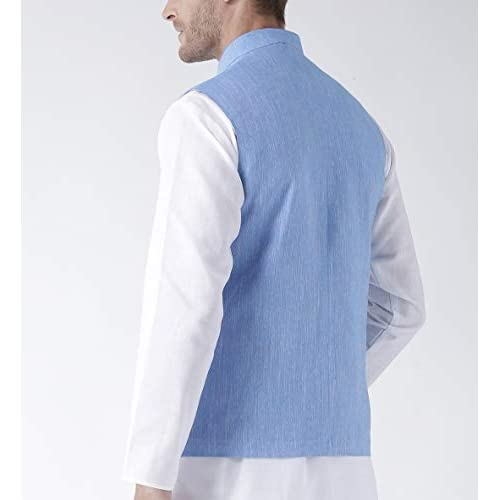 31Cl 6zRk4L. SS500  - hangup Men's Blended Bandhgala Festive Nehru Jacket/Waistcoat and Size Options (Up to2XL)
