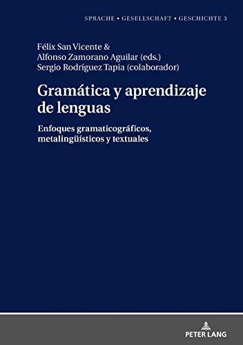 Gramática y aprendizaje de lenguas: Enfoques gramaticográficos, metalingueisticos y textuales