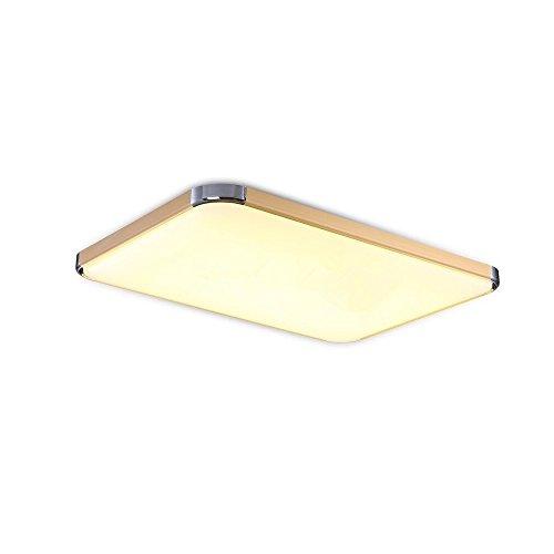 SAILUN 48W Warmweiss LED Modern Deckenleuchte Deckenlampe Flur Wohnzimmer Lampe Schlafzimmer Kche Energie Sparen Licht Golden Amazonde