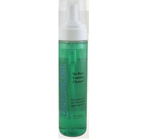 DermaCen No-Rinse Foaming Cleanser 8.5 oz Pump Bottles Model#DERM22952 - 1/Case of 12 by Central Solutions