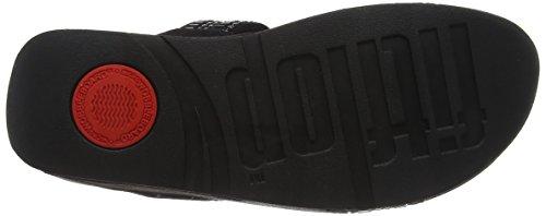 Fitflop Vrouwen Incastone Slide Sandals Peeptoe Zwart (black)