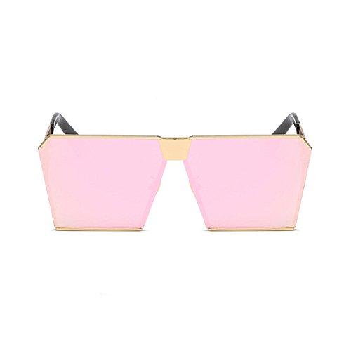 Mujer Claro Hzjundasi Metal Mujer Gafas de Cuadrado Hombre UV400 Rosa de Pescar sol sol Hombre o Marco Gafas Vendimia Oro Conducción y Gafas OOvwr