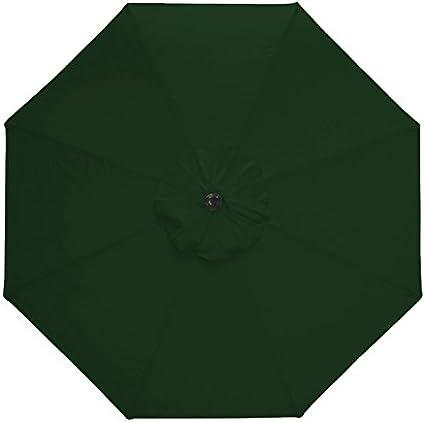 Nova Green Parasol ONLY Green 3m Round Aluminium Metal Outdoor ...