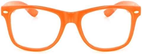 Retro Horned Rim Retro Classic Nerd Glasses Clear Lens
