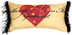 Manual Woodworkers Weavers Word Pillow, 16 x 9, Always Kiss Me Goodnight