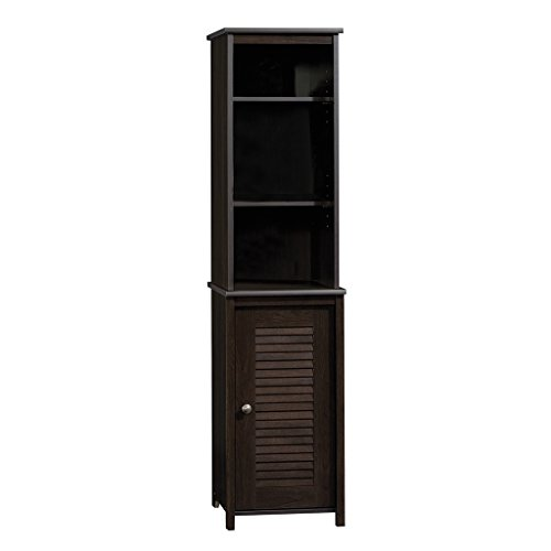 Sauder 414817 Bathroom Shelves, Furniture Bath Peppercorn Linen Tower (Cabinet Bath Bathroom)