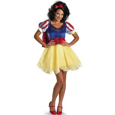Disguise Unisex Adult Sassy Prestige Snow White, Multi, Large (12-14) Costume (Lady Knight Costume)
