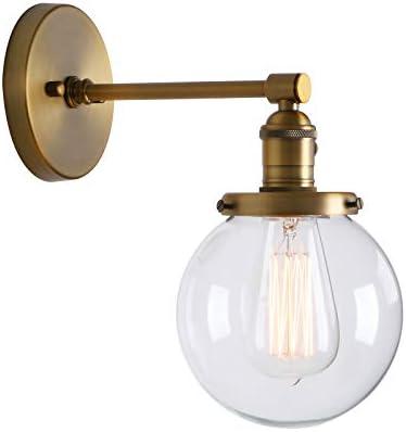 Phansthy innen Modernes runde klarglas Wandbeleuchtung Wandleuchten Vintage Industrie Loft-Wandlampen Antik Deko Design Wandbeleuchtung Küchenwandleuchte im Landhausstil (antike Farbe)