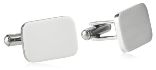 Stainless Steel Rectangular Engravable High-Polish Cuff (High Polish Cuff)