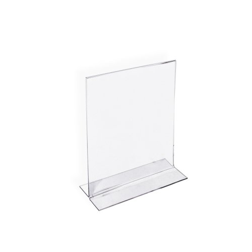 Azar 152722 5-Inch by 7-Inch Vertical Double-Sided Stand Up Sign Holder, 10 Count