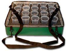 Tray Stadium - TCB Insulated Bags HWK-B-Green Beverage Carrier with 20 Hole Foam Insert, 20