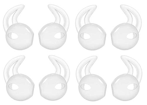 Sport Silicone Grip (Lunies Apple Earpods Covers Anti-Slip Silicone Soft Sport Earbud Tips for iPhone 6S/6 Plus/5S/5C/5 Comfortable 4 Pairs Clear)