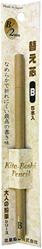 Kitaboshi Lead Holder Refill, 2mm B, 5 Leads (OTP-150B)