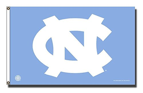 Rico Industries NCAA North Carolina Tar Heels 3-Foot by 5-Foot Single Sided Banner Flag with Grommets
