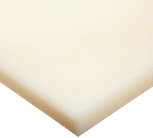 24 Length UHMW 1//2 Thickness 12 Width Sheet ASTM D4020 Opaque White Standard Tolerance Ultra High Molecular Weight Polyethylene