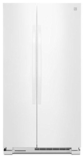 Kenmore 41172 25 cu. ft. Side-by-Side Refrigerator in White, includes delivery and hookup (Available in select cities only)