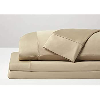 SHEEX Original Performance Sheet Set 2 Pillowcases, Ultra-Soft Fabric Breathes Better Than Cotton (Split King, Khaki)