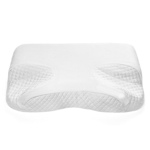 CPAP Memory Foam Pillow By GoodSleep - For BiPAP, APAP & CPAP Mask Users - Nasal Cushion For Side, Back & Stomach Sleepers With Apnea - For Spine & Neck Alignment & (Back Mask)