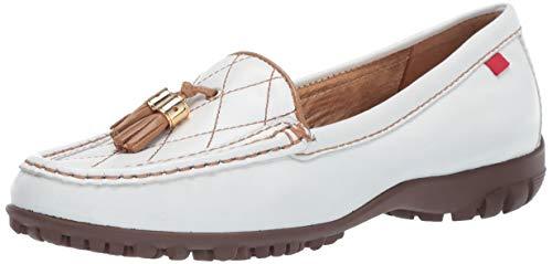 MARC JOSEPH NEW YORK Womens Golf Leather Made in Brazil Wall Street Fashion Shoe Moccasin White/tan Nappa 6.5 B(M) US ()