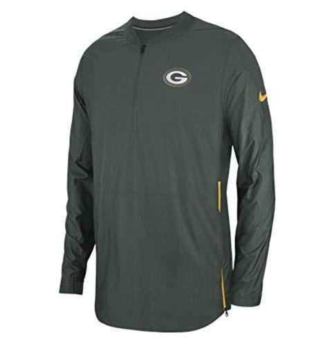 Field Nike Mens Jacket (Nike Green Bay Packers Lockdown On Field Half Zip Men's Pullover Jacket (Green, X-Large))