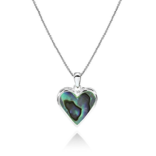 Used, GemStar USA Sterling Silver Abalone Polished Heart for sale  Delivered anywhere in USA