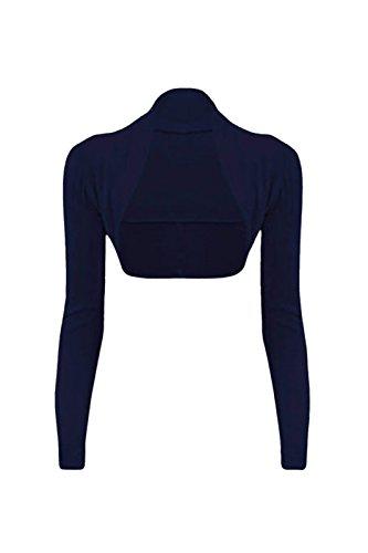 cexi Couture–Mujer Bolero Chaqueta de punto manga larga einf ärbig tamaños 36384042 azul marino