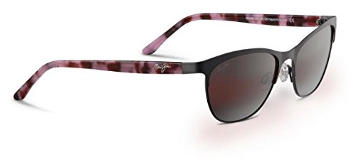 Maui Jim Popoki Polarized Sunglasses - Women's Satin Dark Gunmetal / Maui Rose One Size (Popoki Jim Maui)