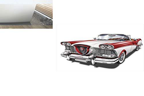 (Decorative Privacy Window Film/Retro Car in Red and White Exclusive Model Machine Drophead Coupe Decorative/No-Glue Self Static Cling for Home Bedroom Bathroom Kitchen Office Decor Red White Silver)