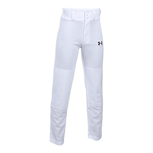 Under Armour Boys' Clean Up Baseball Pants, White, Youth Large