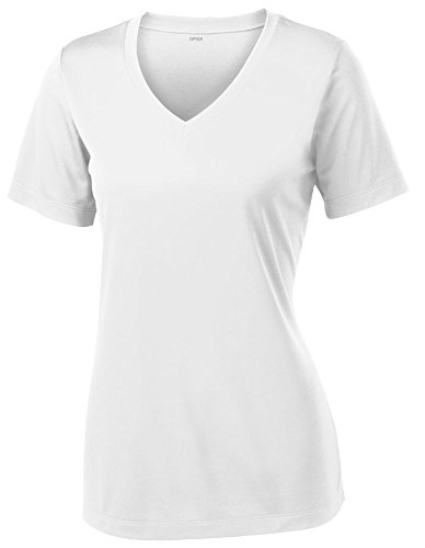 Opna Women's Short Sleeve Moisture Wicking Athletic Shirt, Medium, White
