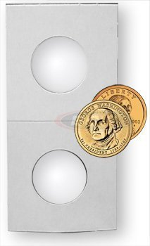 BCW Paper Flips Small Dollar 100 Pack (1 Dollar Coin Holder)