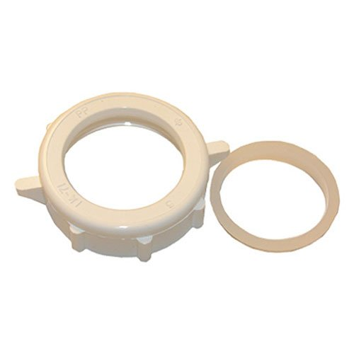 - LASCO 03-1849 1-1/4-Inch White Plastic Slip Joint Nut with Washer
