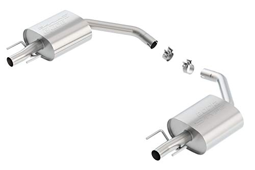 - Borla 11936 S-Type Axle-Back Exhaust System 2.25 in. Incl. Right And Left Hand Mufflers/Clamps No Tip-Uses Factory Valance Single Split Rear Exit S-Type Axle-Back Exhaust System
